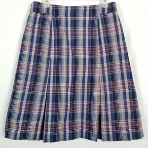 Doncaster Sport Checkered Blue Pleated Skirt